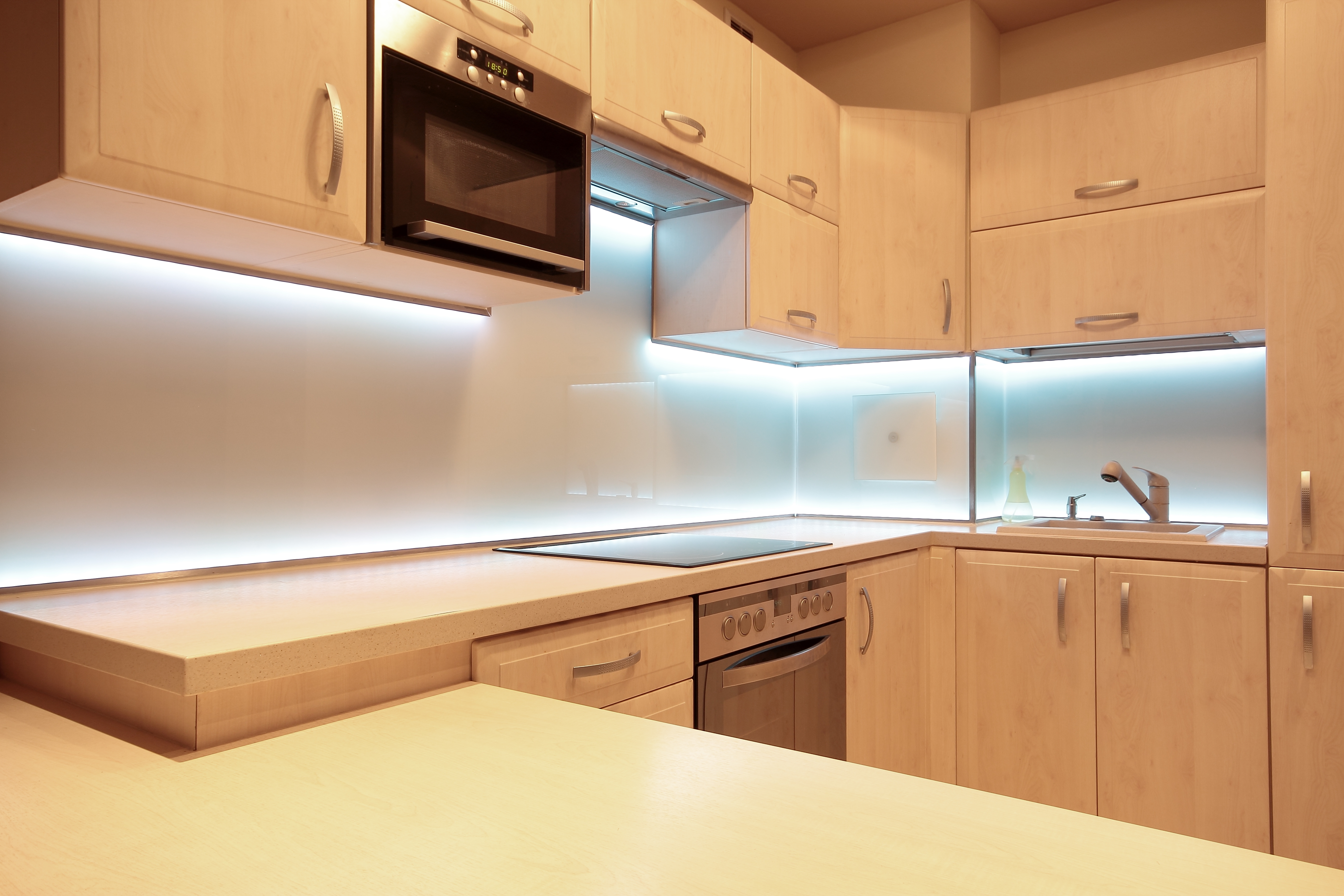 install shelf direct dimmable kitchen led to wire cabinets lighting under how geundercounter cabinet e